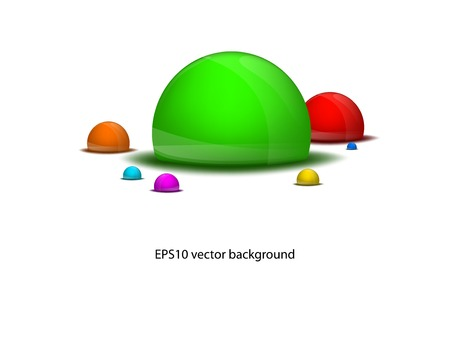 vector seven different colored drops background EPS10 Vector