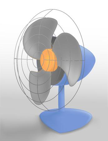 circulating: blue table fan, vaector image