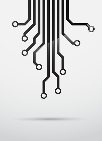 semiconductor: Abstract technology background with black semiconductor tracks. EPS10 vector.