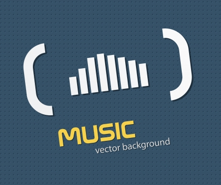 Abstract music background with simple equalizer. EPS10 vector. Vector