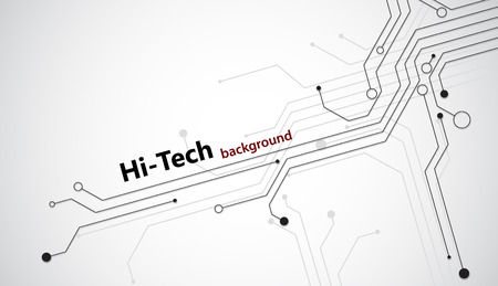 Hi tech background with black semiconductor tracks. EPS10 vector.