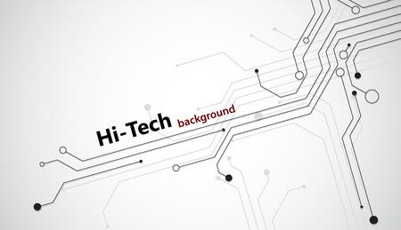 Hi-tech achtergrond met zwarte halfgeleider tracks. EPS10 vector.