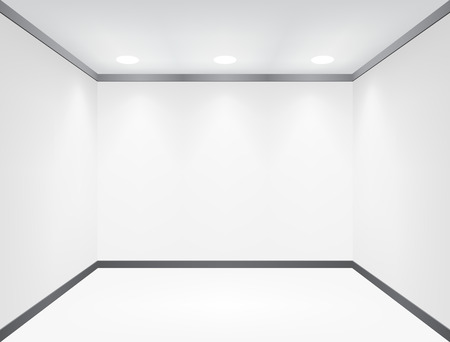 Realistic empty white room in perspective. EPS10 vector. Vector
