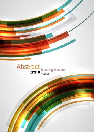 カラフルな動的円。EPS10 ベクトルの抽象的な背景。  イラスト・ベクター素材