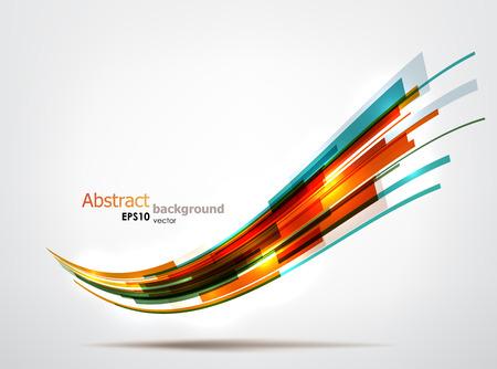 Dynamische bunte Welle. EPS10 Vektor abstrakten Hintergrund. Standard-Bild - 23228687