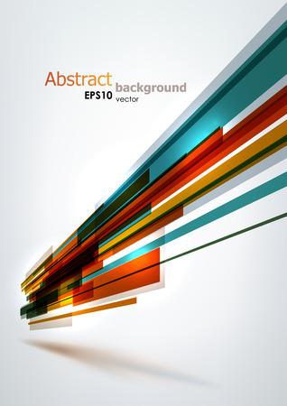 動的カラフルな縞模様。EPS10 ベクトルの抽象的な背景。  イラスト・ベクター素材