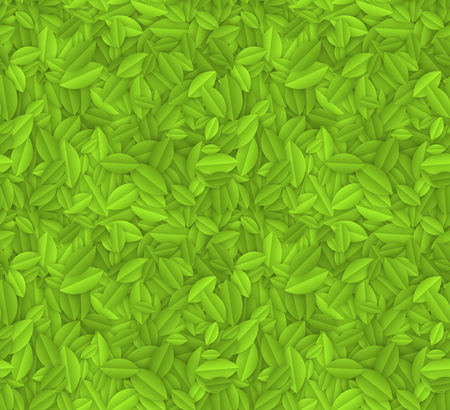 Seamless green leaves texture. EPS10 vector background. Vector
