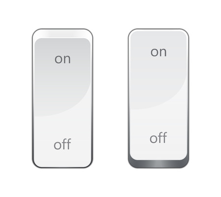 off: realistic on or off switch. EPS10 vector image.