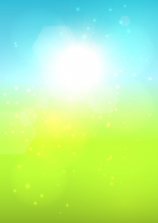 Blurred sunny summer bokeh background. EPS10 vector. Vector