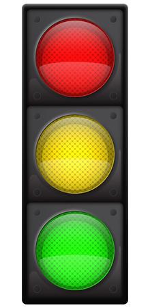 Realistische verkeerslichten, geïsoleerd op wit, EPS10 vector