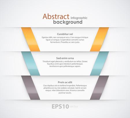プレース ホルダーと抽象的なリボンの背景。EPS10 ベクトル。  イラスト・ベクター素材