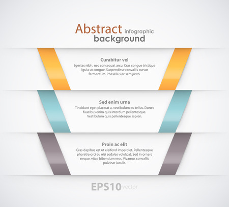 Abstract ribbons background with placeholders. EPS10 vector.