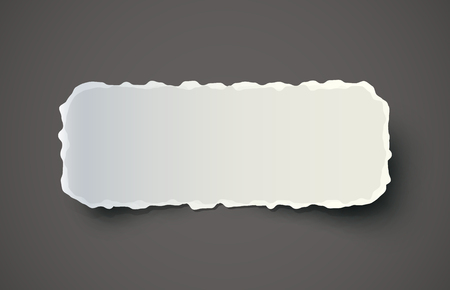 Piece of torn paper on dark background. EPS10 vector. Vector