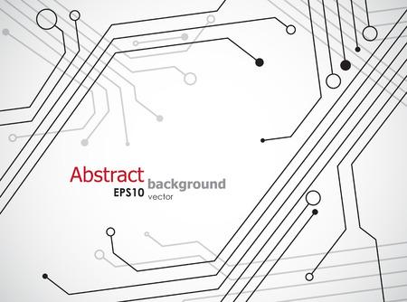 半導体と単純な技術の背景を追跡します。EPS10 ベクトル。