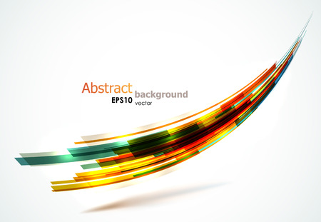 Kleurrijke abstracte wave achtergrond. EPS10 vector-afbeelding. Stock Illustratie