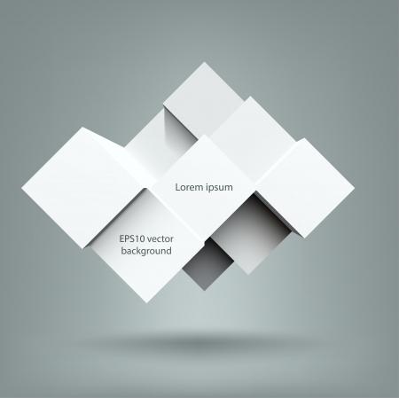 Abstracte kubussen achtergrond met kopie ruimte. EPS10 vector. Stock Illustratie