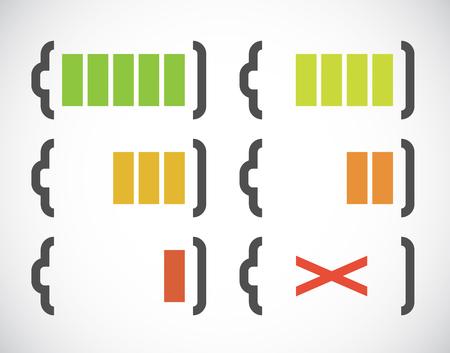lading: Abstracte eenvoudige batterij-indicatie. EPS10 vector.