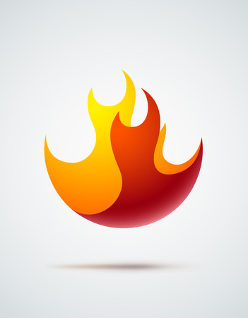 flames vector: Abstract symbol of fire flames. EPS10 vector.