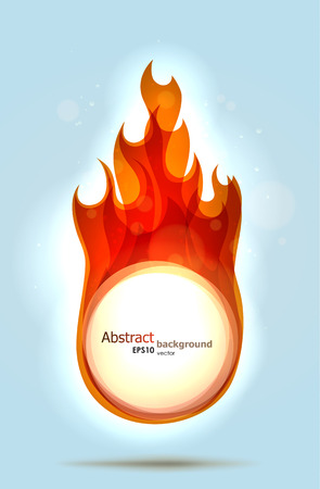 Abstract fire background with a placeholder. EPS10 vector. Vector