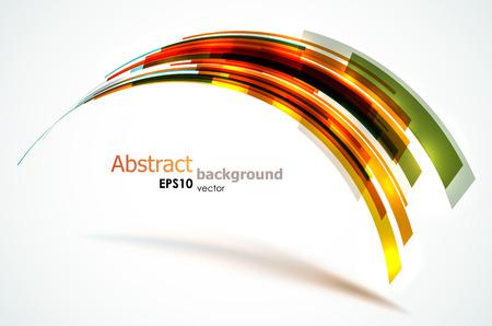 Abstracte kleurrijke vorm gevormd door lichte strepen.