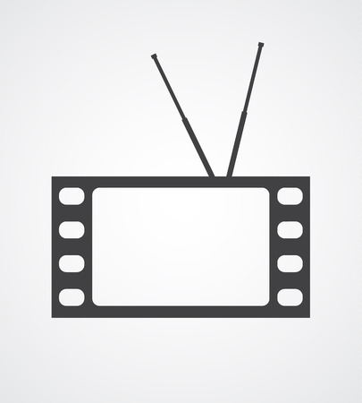 Symbolic image of a TV set made of a frame of a movie film. Vector background. Stock Vector - 23552819