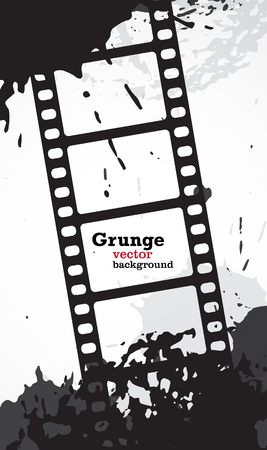 Grunge vector background with copyspace in movie film frames.   Stock Vector - 23552822