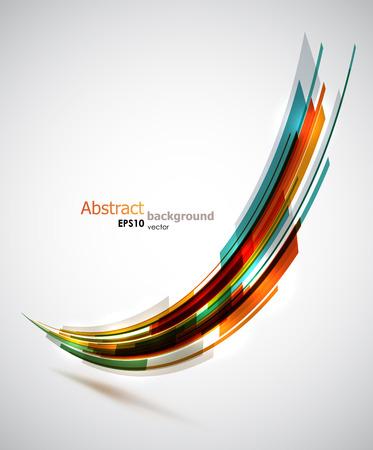 Koele abstracte vorm achtergrond. Stock Illustratie