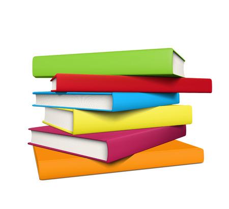 空のカバーと現実的な着色された書籍のスタック。  イラスト・ベクター素材