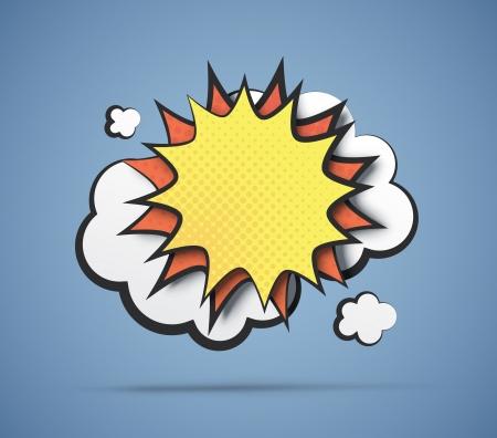 Comic-Stil Explosion mit Freiraum zum Schreiben von Text. 3d Papier Wirkungen. EPS10 Vektor. Standard-Bild - 24176085
