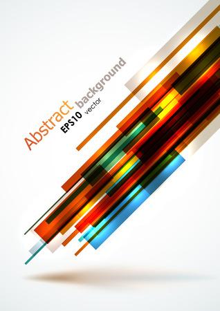 Abstract hellen Linien Hintergrund. EPS10 Vektor, dynamische Komposition. Standard-Bild - 24176153