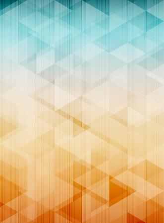 koel: Cool abstracte achtergrond met puinhoop van driehoeken. EPS10 vector. Stock Illustratie