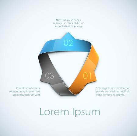 抽象的なリボンの背景。ステップバイ ステップのコンセプトの広告のためのクールな。EPS10 ベクトル。