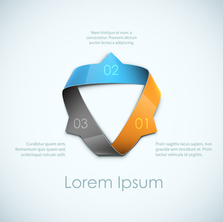 Abstract ribbon background. Cool for step-by-step concept advertising. EPS10 vector. Illustration