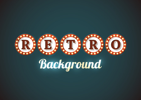 americana: Retro background in style of an old roadsign.