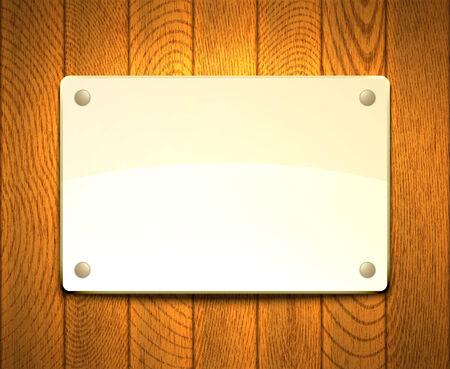 Blank light framework hanging on a wooden wall. Stock Vector - 27320951