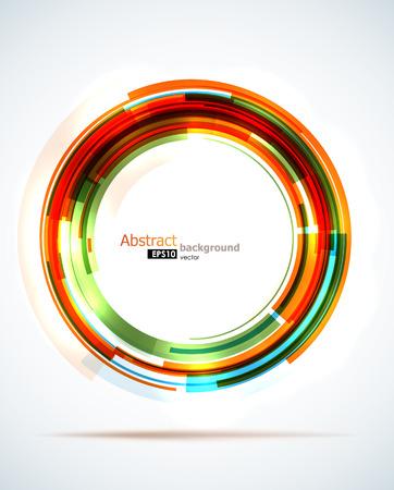 明るいオレンジ色の抽象的な円の背景。  イラスト・ベクター素材
