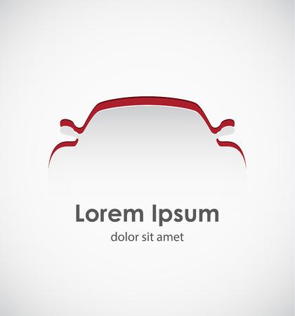 Cut paper forms a sport car silhouette.  Vector