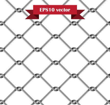 Seamless metal rabitz mesh isolated on white.  Vector