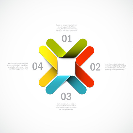 Abstract background, cool infographics template.