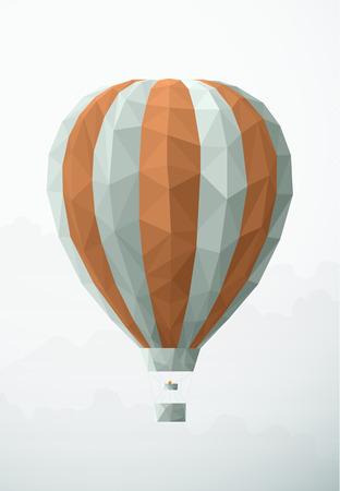 flying balloon: Flying balloon in triangular style. EPS10 vector illustration.