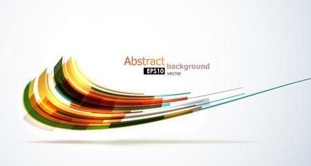 Koele kleurrijke abstracte vorm achtergrond. EPS10 vector.