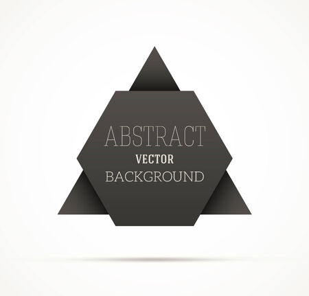 placeholder: Abstract black origami hexagon shape with a placeholder for your text. EPS10 vector.