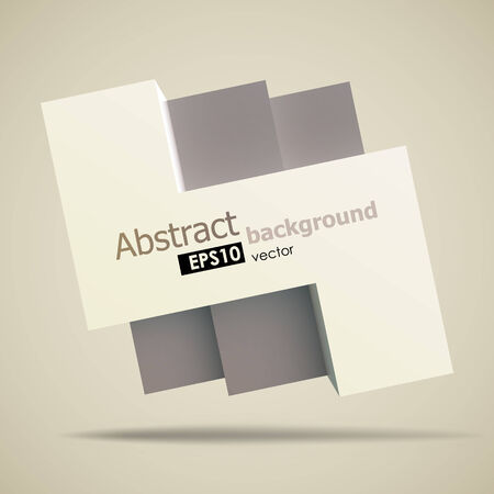 placeholder: Cool geometric shapes background with a placeholder for your text. Realistic 3D square shape with effects and shadows. EPS10 vector image.