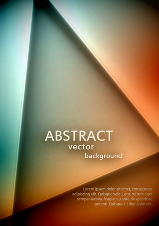 Soft abstract triangle background with a sample text. Easily editable text shadow. EPS10 vector. Vector