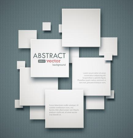 Geometrische vierkanten achtergrond met copyspaces. EPS10 vector afbeelding.