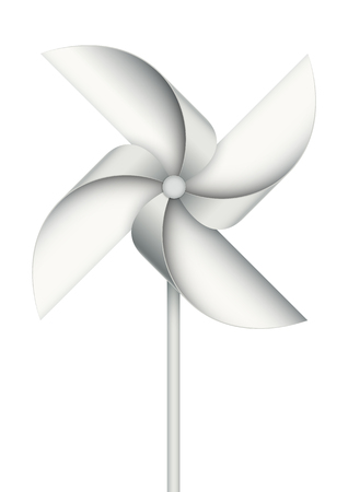 spinning windmill: Realistic toy windmill isolated on white. EPS10 vector object. Illustration