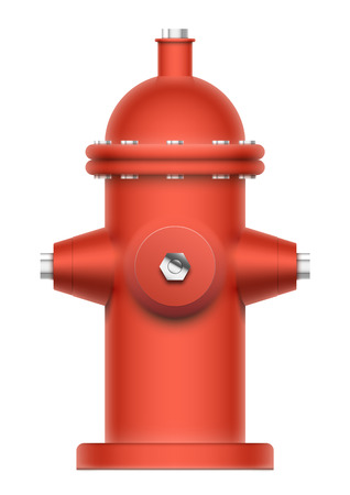 fire plug: Red fire hydrant isolated on white. EPS10 vector realistic object.