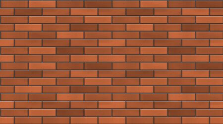 realism: Vector seamless red brick wall texture. EPS10 vector background. Illustration
