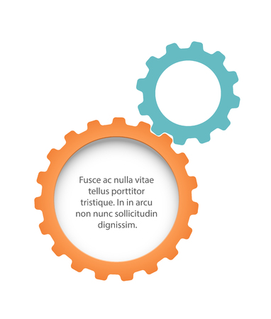copyspaces: Two flat gears with copyspaces. EPS10 vector.