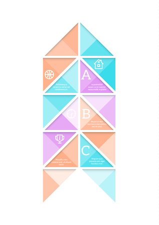 eps10 vector background: Abstract geometric infographic template with sample text and icons. EPS10 vector background. Illustration
